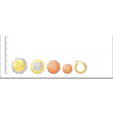 Aros con dibujo de espiga hechos en Oro 18kt