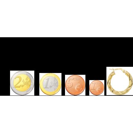 Aros de Oro 18kt reliados diseño granos