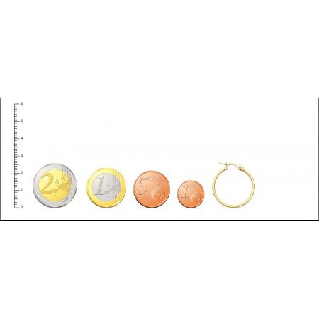 Aros de Oro 18kt planos con dibujo de greca