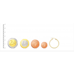 Aros de Oro 18kt planos con dibujo de greca -24mm