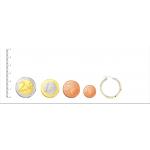 Aros bicolor con dibujo de greca hechos en Oro 18kt