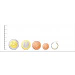 Pendientes de Aro dobles bicolor Oro 18kt -18mm