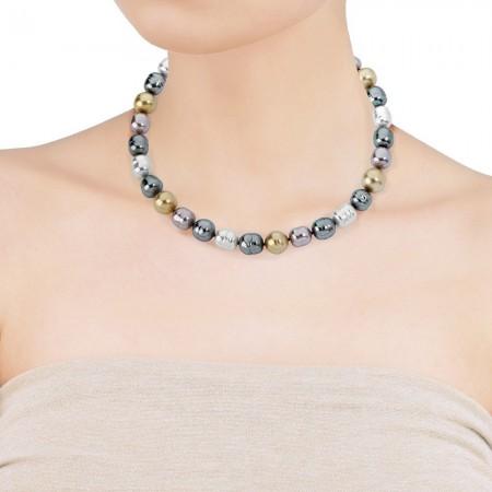 Collar perlas barrocas multicolor