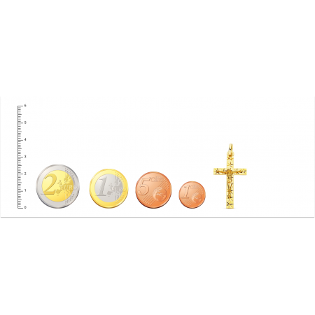 Cruz de Oro 18kt Tallada con Cristo