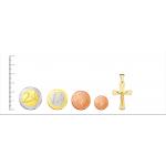 Cruz con Cristo en Oro de 18kt -34mm