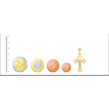 Cruz con Cristo de Oro 18kt