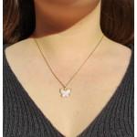 Colgante Mariposa de Nácar en Oro 18kt