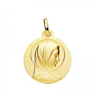 Medalla Virgen de Lourdes Oro 18kt -18mm