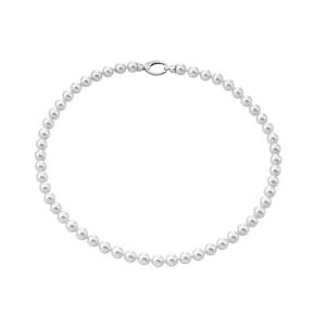 Collar Clasico Perlas blancas de 6mm y 40cm largo
