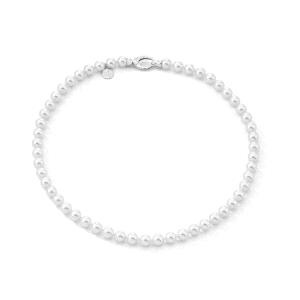 Collar Clasico de perlas blancas de 7mm y 45cm largo