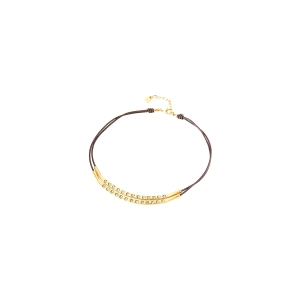 "Gargantilla ""Balance"" bañada en oro con cristales Swarovski"