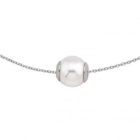 Colgante con perla10mm y cadena de plata