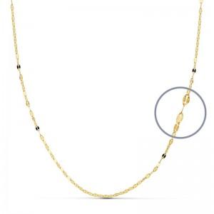 Cadena de Oro 18Kt diamantada -40cm