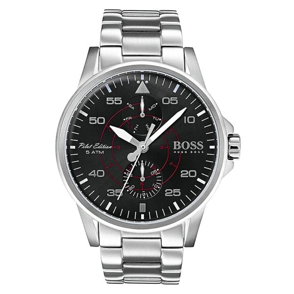 HUGO BOSS AVIATOR 44MM NEGRO-1513518