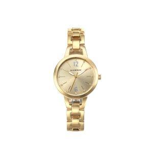 Reloj de Mujer Dorado Analógico