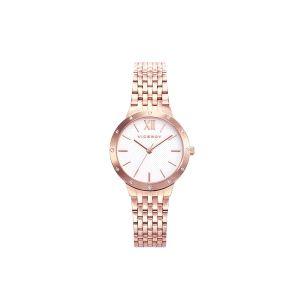 Reloj Chic de Mujer de oro rosa y piedras