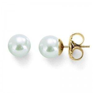 Pendientes clasicos de perlas-12mm