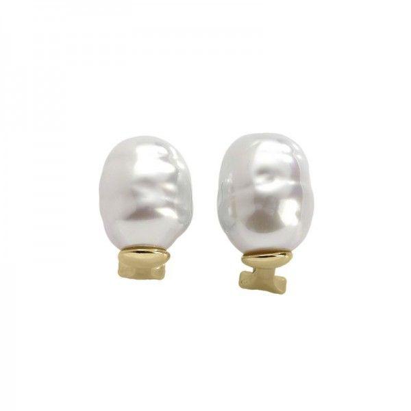 Pendientes perla barroca omega Real Beauty