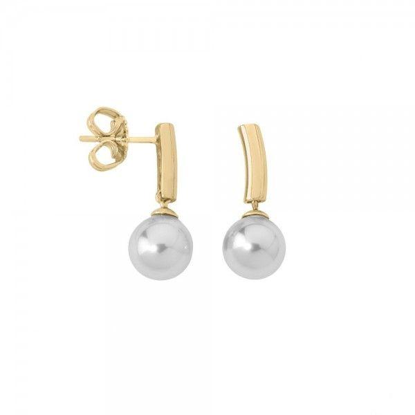 Pendientes Lyra de perlas con plata dorada.