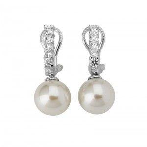 Pendientes Lilit con perla y circonitas