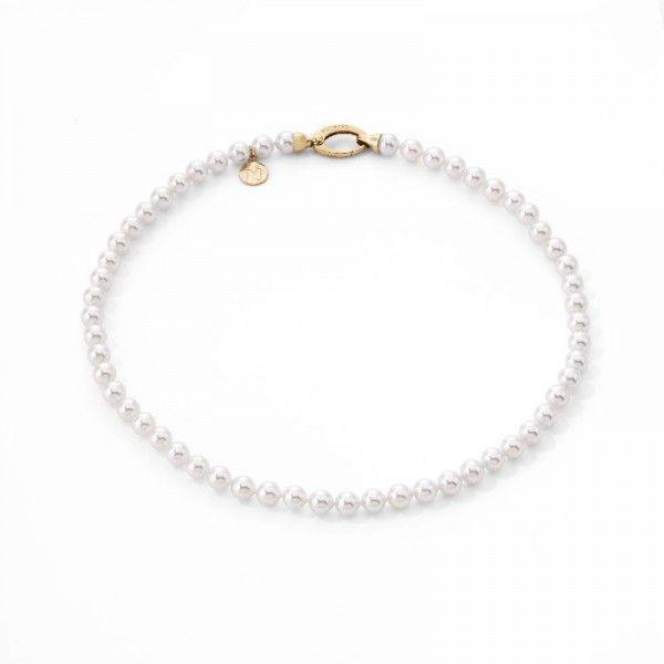 Collar 40/6 romántico de perlas standard