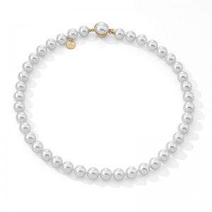 Collar clasico de perlas 10mm y 45cm