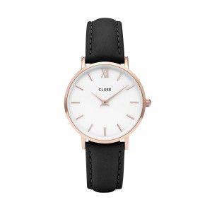 Reloj Minuit Señora oro rosa piel 33mm