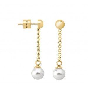 Pendientes Fun largos con perlas 8mm