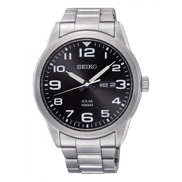 Seiko Solar Neo Classic negro-SNE471P1