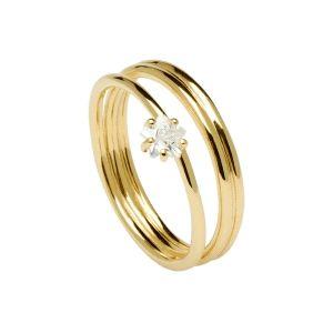 Anillo Phoenix Gold de plata dorada