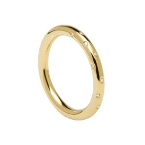 Anillo Satellite Gold de plata dorada