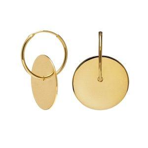 Pendientes Amuletto Gold plata dorada