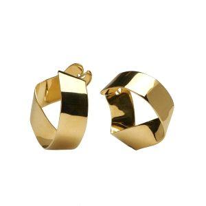 Pendientes Gravity Gold con baño oro 18k