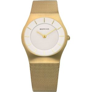 Reloj Mujer Classic dorado y milanesa