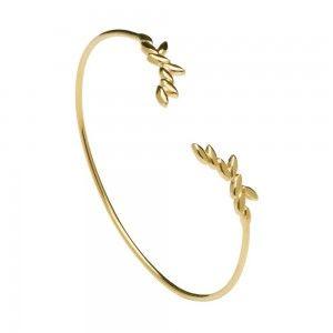 Pulsera de plata dorada Safari Gold