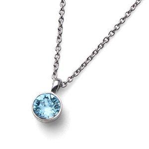 Colgante Uno cristal Swarovski Aqua