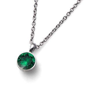 Colgante Uno cristal Swarovski Esmeralda