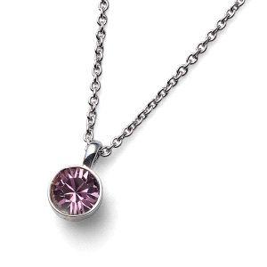 Colgante Uno cristal Swarovski Rosa