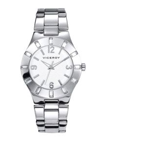 Reloj de Señora clásico acero plateado