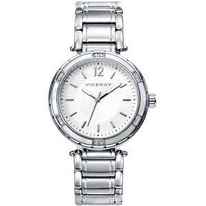 Reloj Chic de Mujer clásico acero plateado