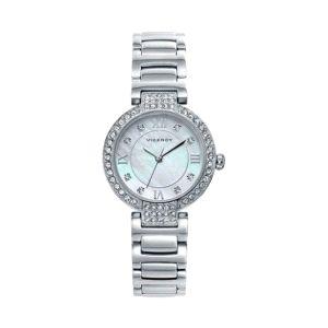 Reloj Chic de Mujer plateado con piedras