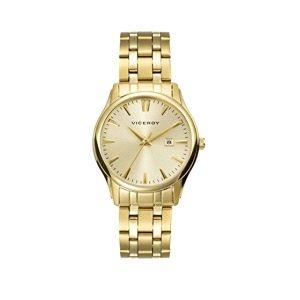 Reloj Clásico de Mujer dorado con fecha