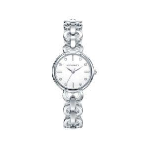 Reloj de Señora plateado con circonitas