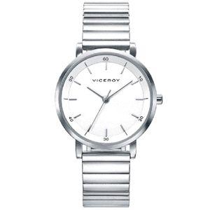 Reloj clásico Mujer de acero plateado
