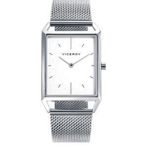 Reloj Hombre clásico rectangular plateado