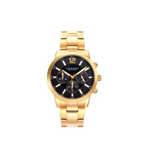 Reloj Hombre cronógrafo dorado