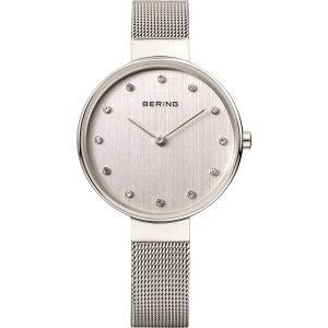 Reloj Mujer plateado con malla milanesa