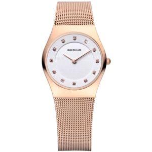 Reloj Mujer Classic extraplano baño rosa