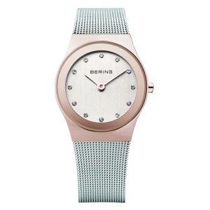Reloj Mujer esfera rosa 29mm plateado