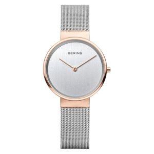 Reloj mujer bicolor de malla milanesa